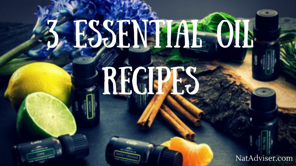3 essential oil recipes
