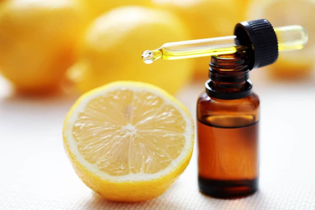Lemon oil for cold sores