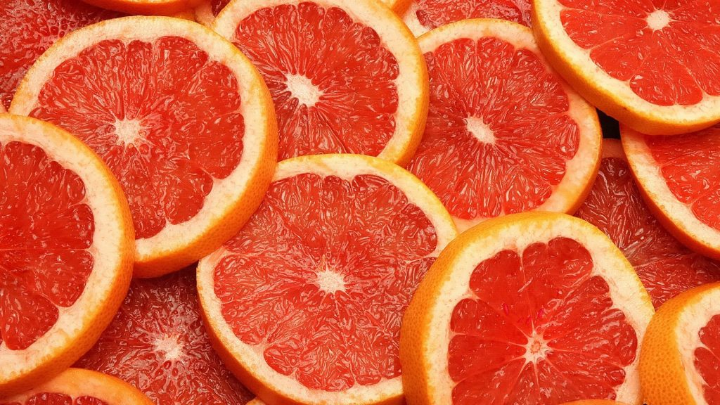 Grapefruit essential oil for energy
