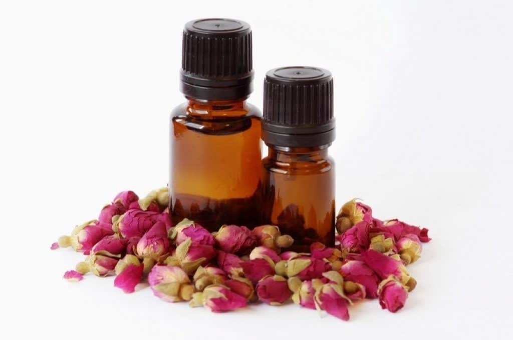 Rose essential oil for menstrual cramps