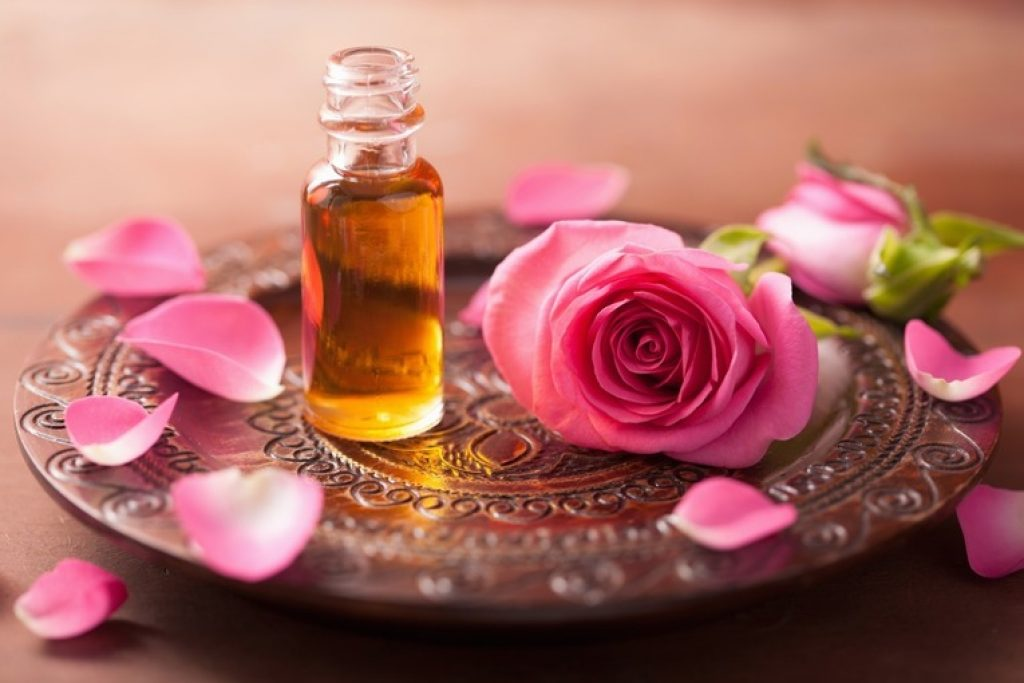 Rose essential oil for romance