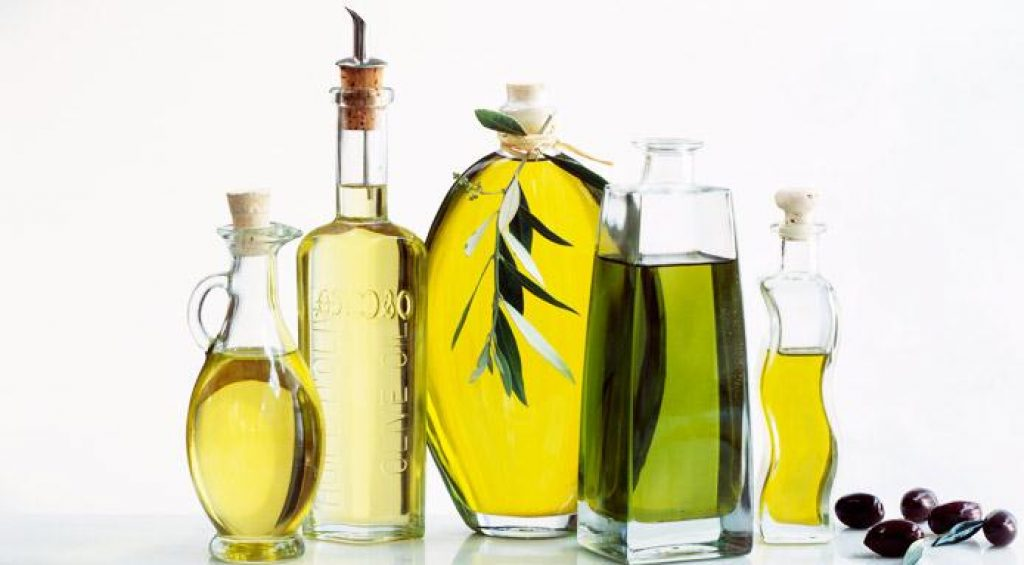Extra-virgin olive oil and walnut oil