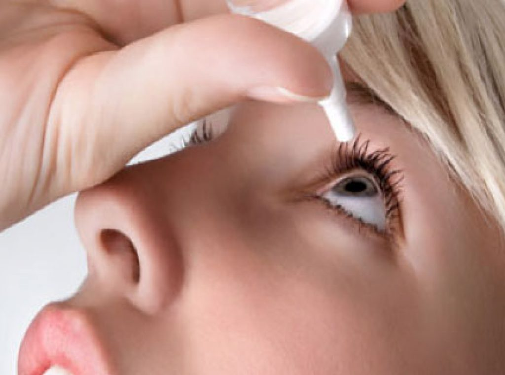 artificial eye drops to treat headeache behind eye