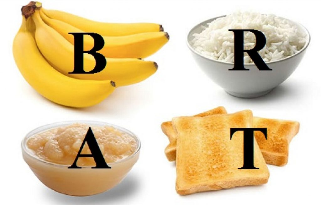 BRAT Diet to get rid of diarrhea