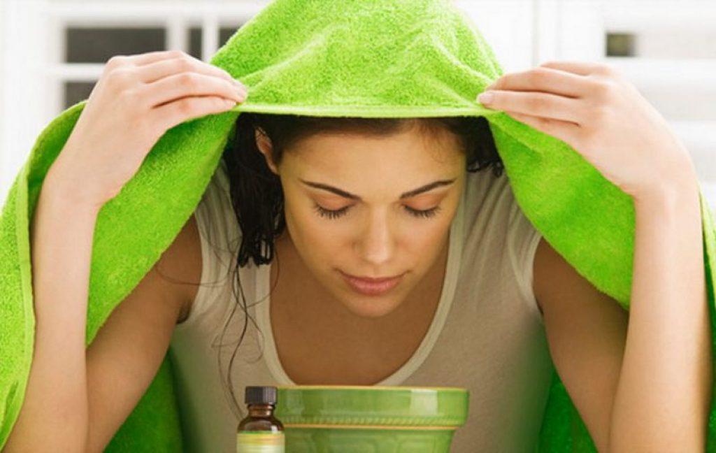 Inhalation with gardenia essential oil