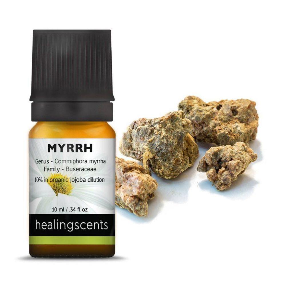 Myrrh essential oil for stretch marks