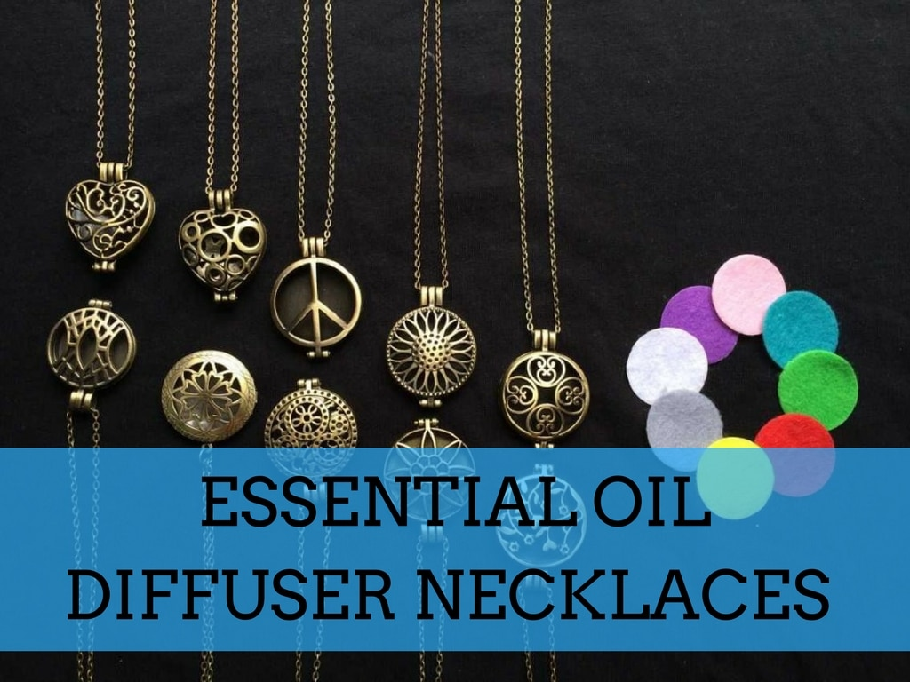 Essential oil diffuser necklaces