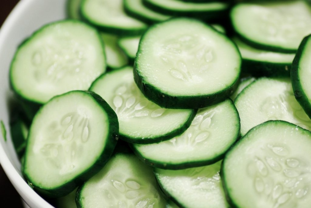 Cucumber as a natural remedyfor razor bumps